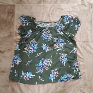 Olive Floral Shirt
